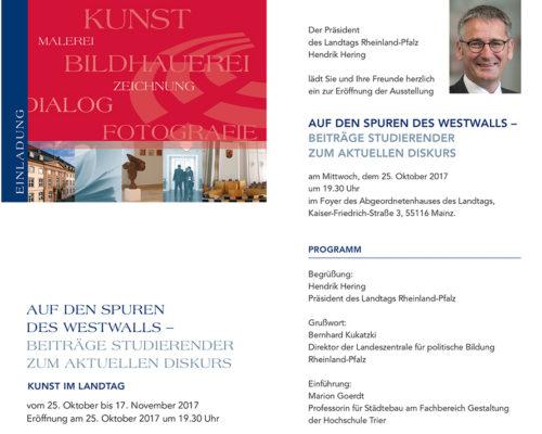25.10.-17.11.2017 Auf den Spuren des Westwalls. Beiträge zum aktuellen Diskurs – Ausstellung Landtag Rheinland-Pfalz Mainz